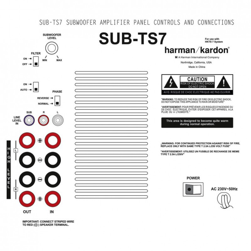 Harman Kardon SUB TS7 Ruilmodule