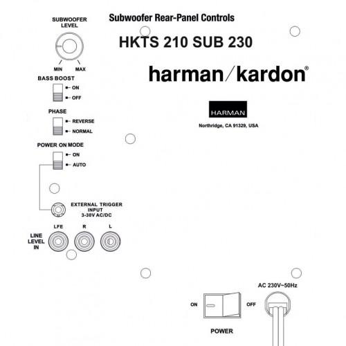 Harman Kardon HKTS210SUB-230 binnenkant