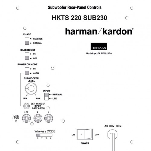 Harman Kardon HKTS220SUB + WiFi