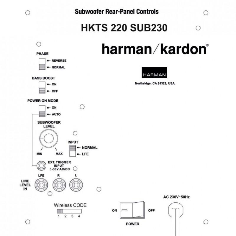 Harman Kardon HKTS220SUB + WiFi