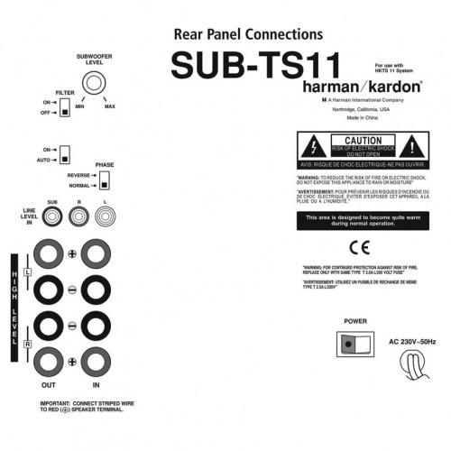 Harman Kardon SUB TS11 Reparatie