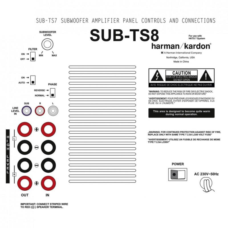 Harman Kardon SUB TS8 Ruilmodule