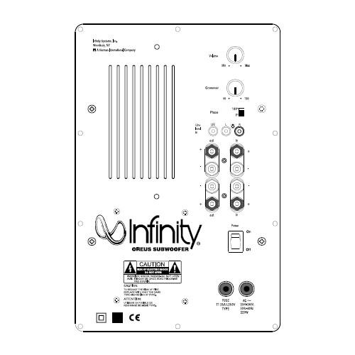 Infinity Oreus Subwoofer Reparatie