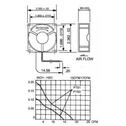Sunon Axiaal Ventilator DC 12Volt 60x60x15